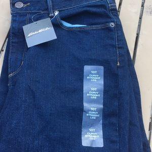 NWT Eddie Bauer dark blue jeans